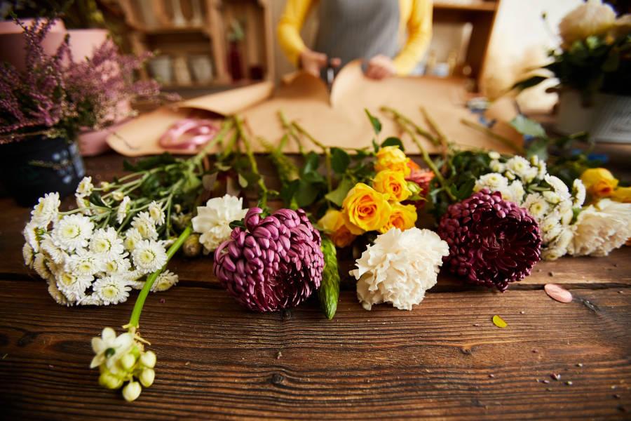 Negozio fiori per funerale
